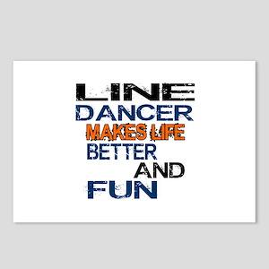 Line Dancer Makes Life Be Postcards (Package of 8)