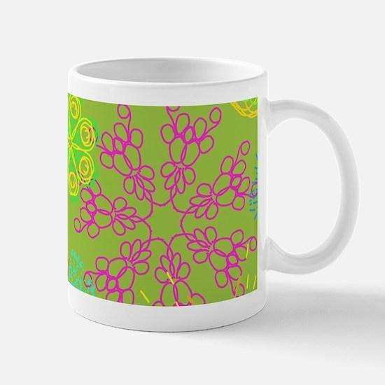 Neon Flowers Mugs
