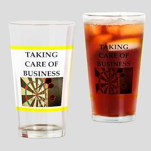 darts joke Drinking Glass