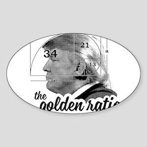 Donald Trump - the golden ratio Sticker