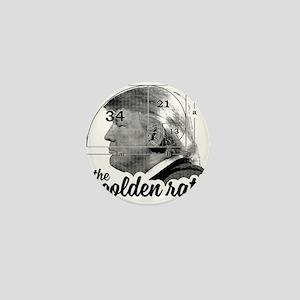 Donald Trump - the golden ratio Mini Button