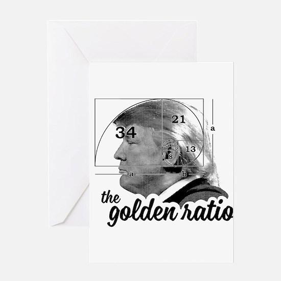 Donald Trump - the golden ratio Greeting Cards