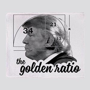 Donald Trump - the golden ratio Throw Blanket