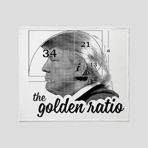 Donald Trump - the golden ratio Throw Blanket