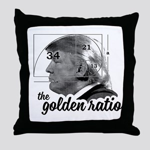 Donald Trump - the golden ratio Throw Pillow