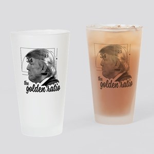 Donald Trump - the golden ratio Drinking Glass