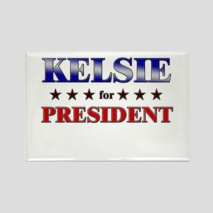 KELSIE for president Rectangle Magnet