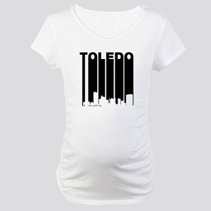 Retro Toledo Cityscape Maternity T-Shirt