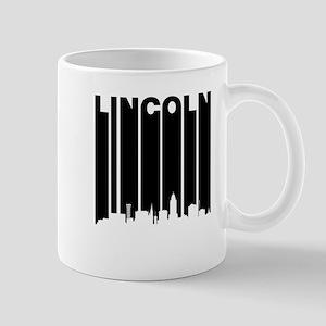 Retro Lincoln Cityscape Mugs