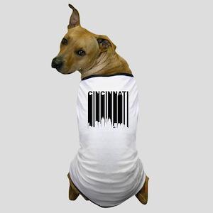 Retro Cincinnati Cityscape Dog T-Shirt