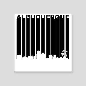 Retro Albuquerque Cityscape Sticker
