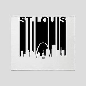 Retro St Louis Cityscape Throw Blanket