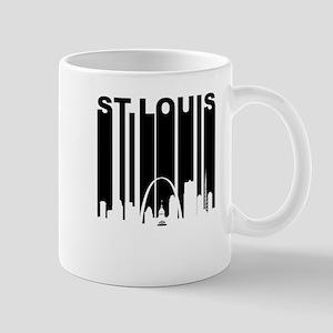 Retro St Louis Cityscape Mugs