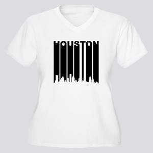 Retro Houston Cityscape Plus Size T-Shirt