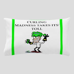 curling joke Pillow Case