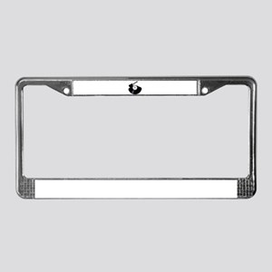 Rock Music Silhouette Record License Plate Frame
