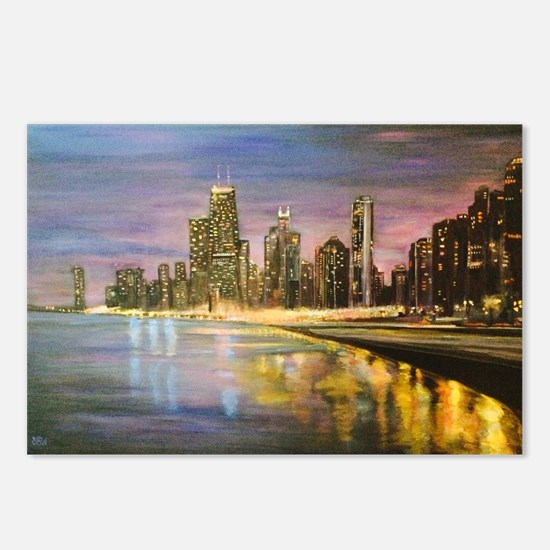 Chicago by Night Postcards (Package of 8)