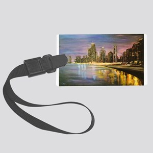 Chicago by Night Luggage Tag