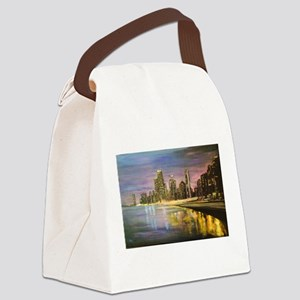 Chicago by Night Canvas Lunch Bag