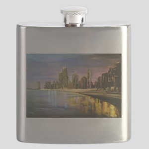 Chicago by Night Flask