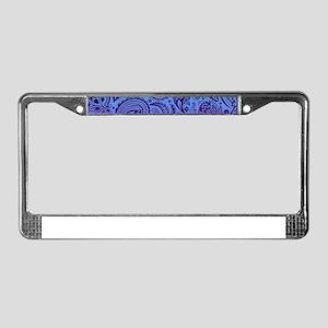 Depp Purple Floral Paisley On License Plate Frame