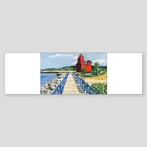 Big Red Macatawa, MI Bumper Sticker