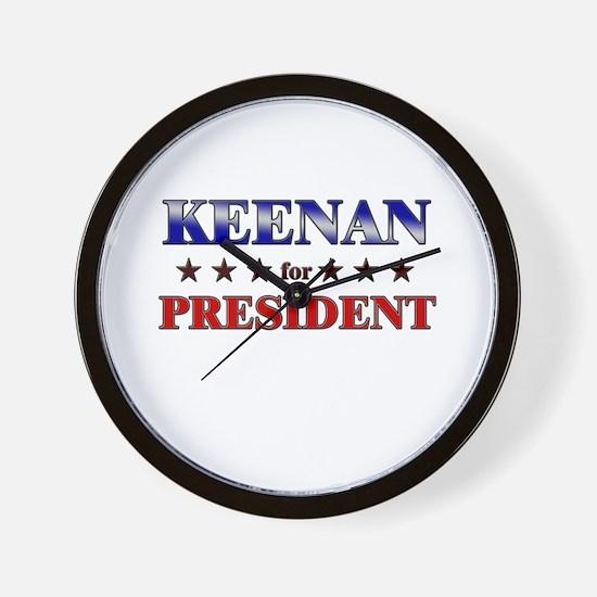 KEENAN for president Wall Clock