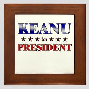 KEANU for president Framed Tile