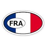 France Flag Oval Sticker
