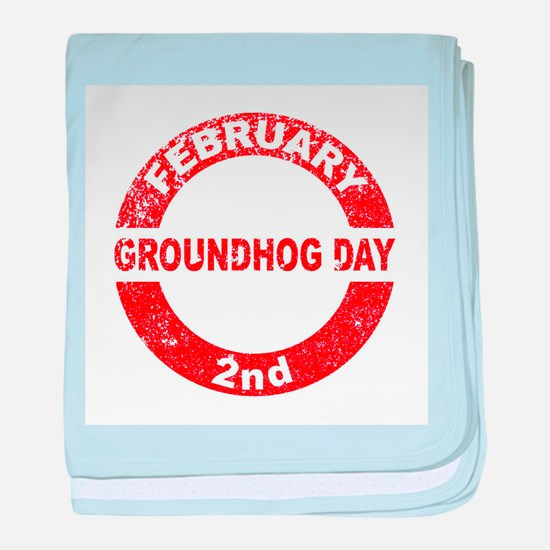 Groundhog Day Stamp baby blanket