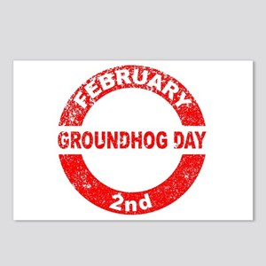 Groundhog Day Stamp Postcards (Package of 8)