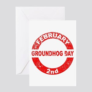 Groundhog Day Stamp Greeting Cards
