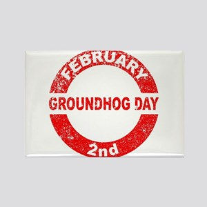 Groundhog Day Stamp Magnets