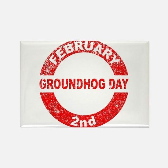 Groundhog Day Stamp Magnets