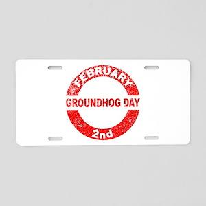 Groundhog Day Stamp Aluminum License Plate