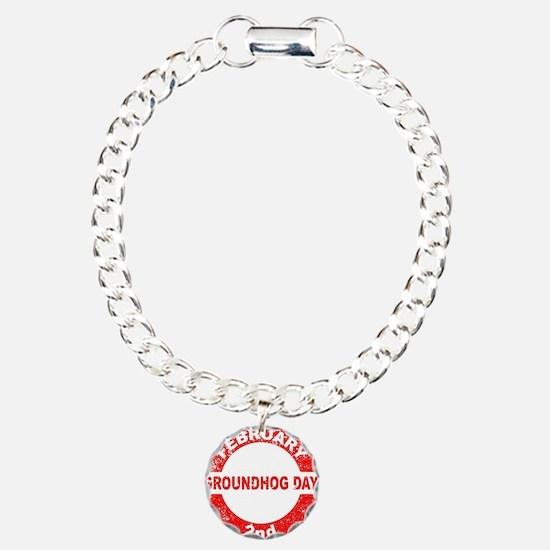 Groundhog Day Stamp Bracelet