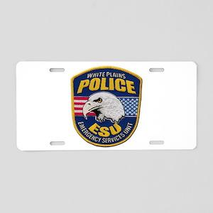 White Plains ESU Aluminum License Plate