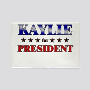 KAYLIE for president Rectangle Magnet