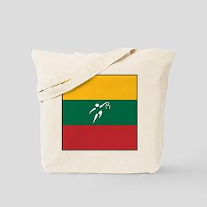 Team Basketball Lithuania Tote Bag