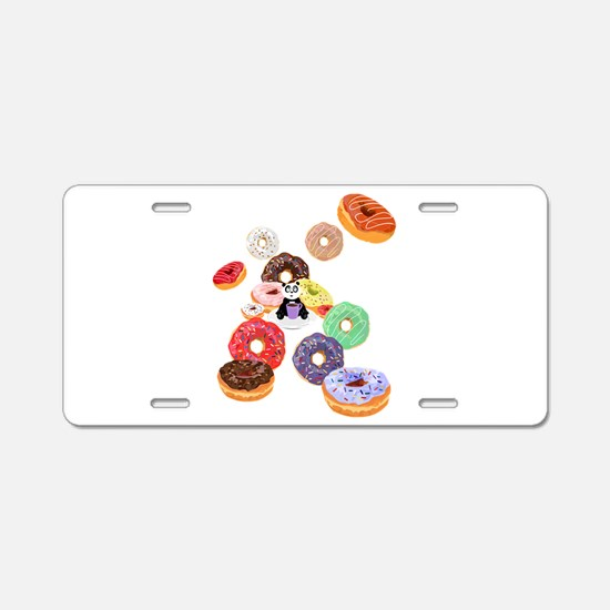Panda & Donuts Aluminum License Plate