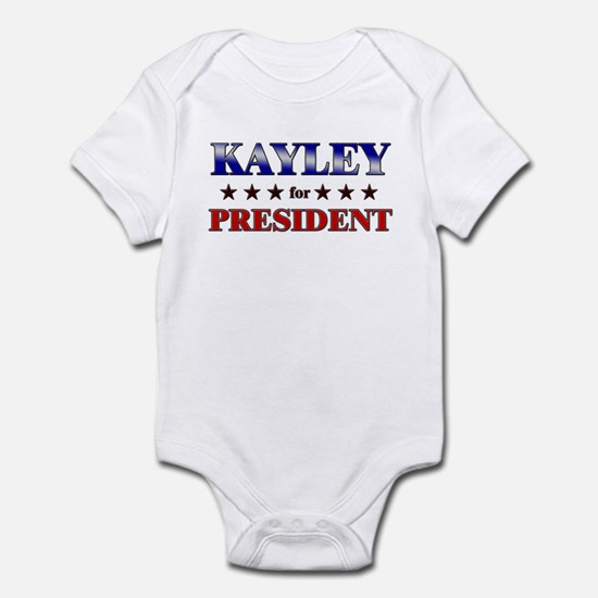 KAYLEY for president Infant Bodysuit