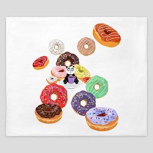 Panda & Donuts King Duvet