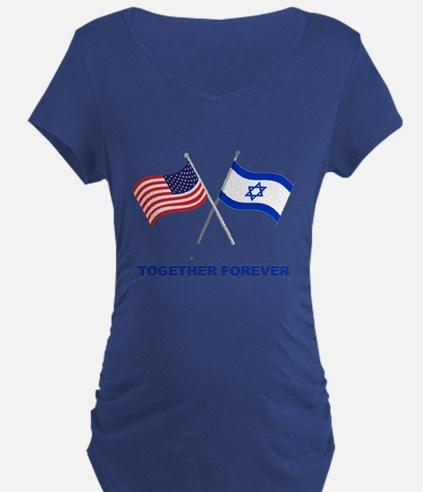 Us And Israel Together Forever Maternity T-Shirt