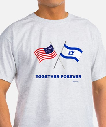 Us And Israel Together Forever T-Shirt