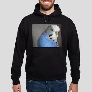 Wonderful Blue Budgie Style Hoodie (dark)