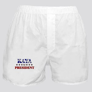 KAYA for president Boxer Shorts
