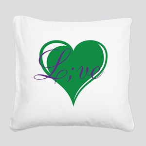 mental health awareness live Square Canvas Pillow