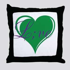 mental health awareness live Throw Pillow