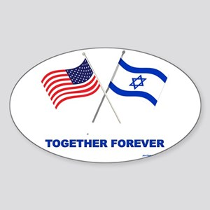 US and Israel Together Forever Sticker