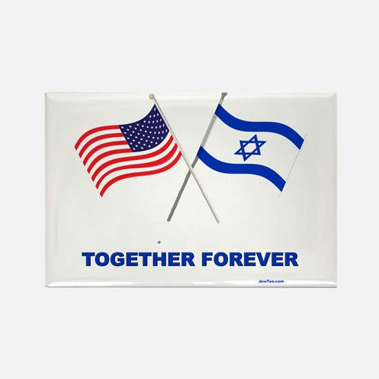US and Israel Together Forever Magnets